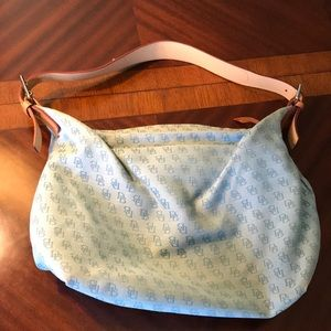 Vintage Dooney & Bourke signature light blue purse